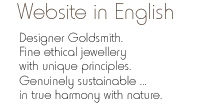 Kerstin Laibach Ethical Sustainable Handmade Designer Jewellery from Recycled Precious Metals,  Antique Gems and Surface Gathered Pebbles
