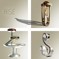 Laibach Rise Sculptural Jewellery Collection