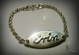 Child's name bracelet - Click for more details