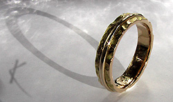 Laibach Path Ring integrating old wedding ring