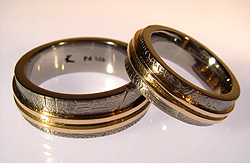 palladium and rose gold wedding rings by kerstin laibach - Old Wedding Rings