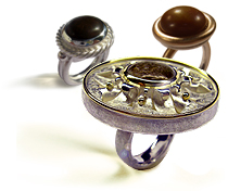 Handmade ethical Rings with stones by Kerstin Laibach