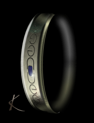 Vegan Inscribed bangle - Copyright Kerstin Laibach